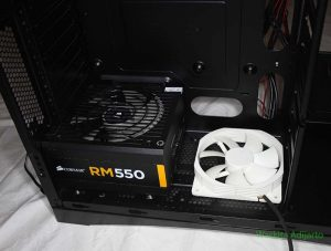 Power supply dan kipas bawah