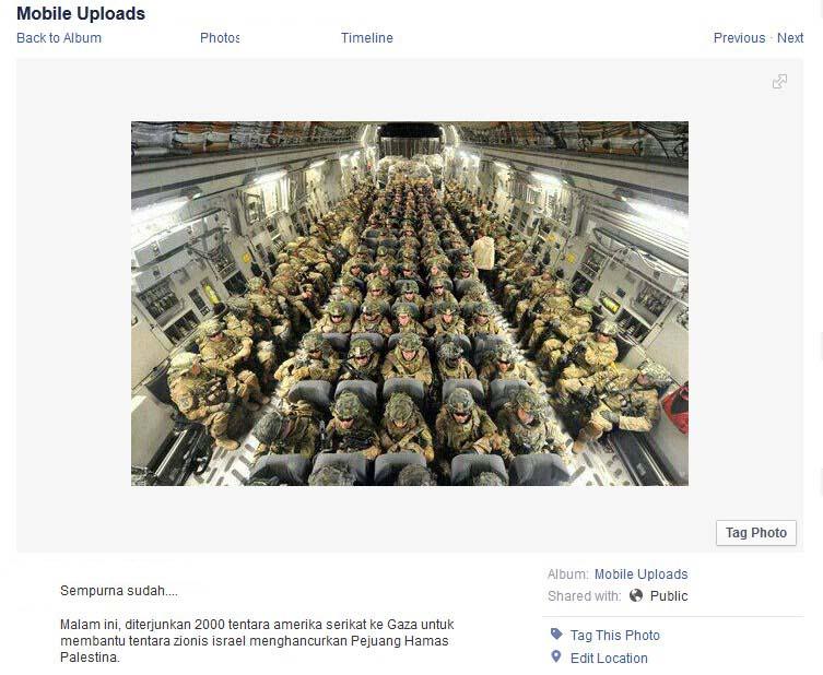 Berita Palsu (Hoax): Obama Mengirim 2000 Tentara ke Gaza