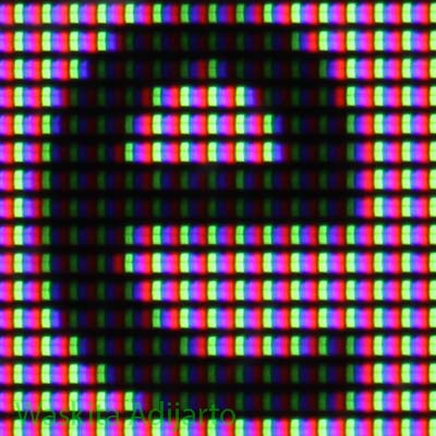Foto makro LCD monitor Dell U2410