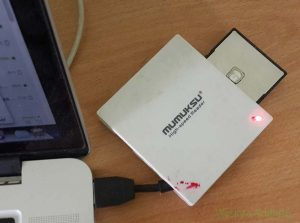 Mumuksu Card Reader MCR 381 dengan Mac Book Pro