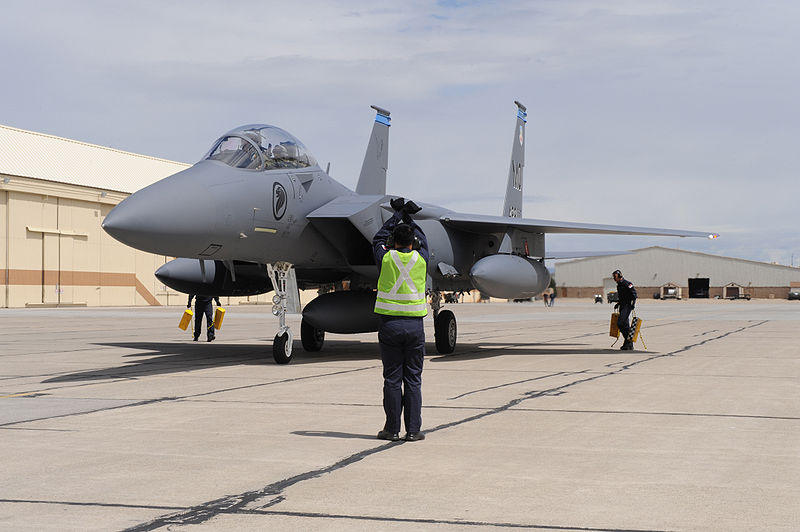 F-15SG milik Singapura di Mountain Home AFB