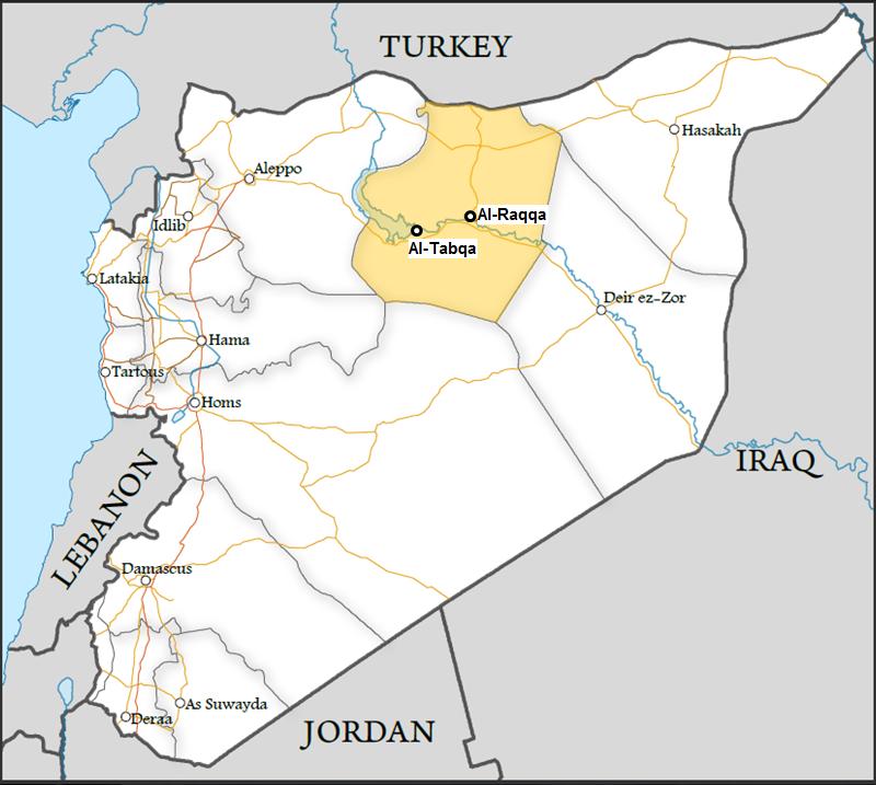 Peta Ar Raqqa di Syria