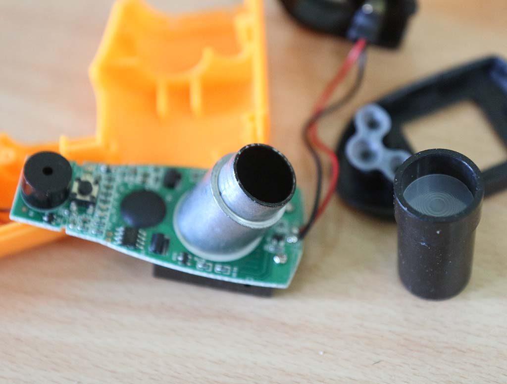 Komponen utama yaitu sensor temperatur infra merah