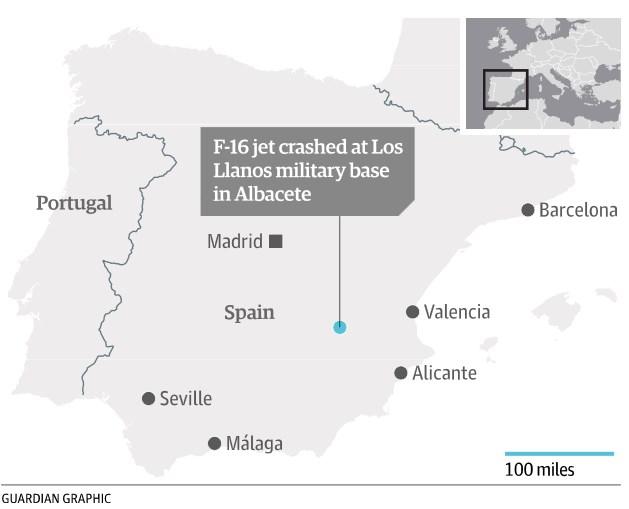 Lokas kecelakaan di Los Llanos, Spanyol