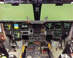 Kokpit pesawat pembom B-2 Spirit
