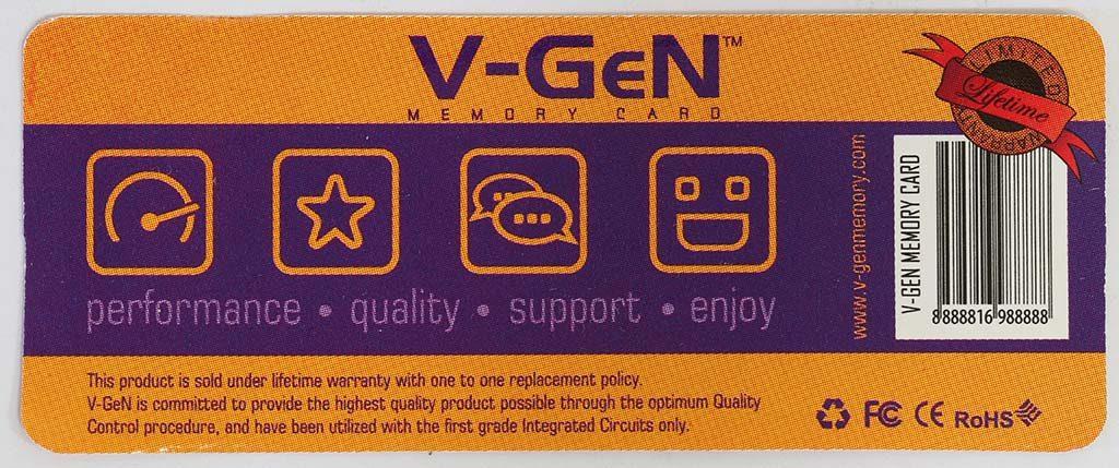 Kemasan V-Gen bagian belakang