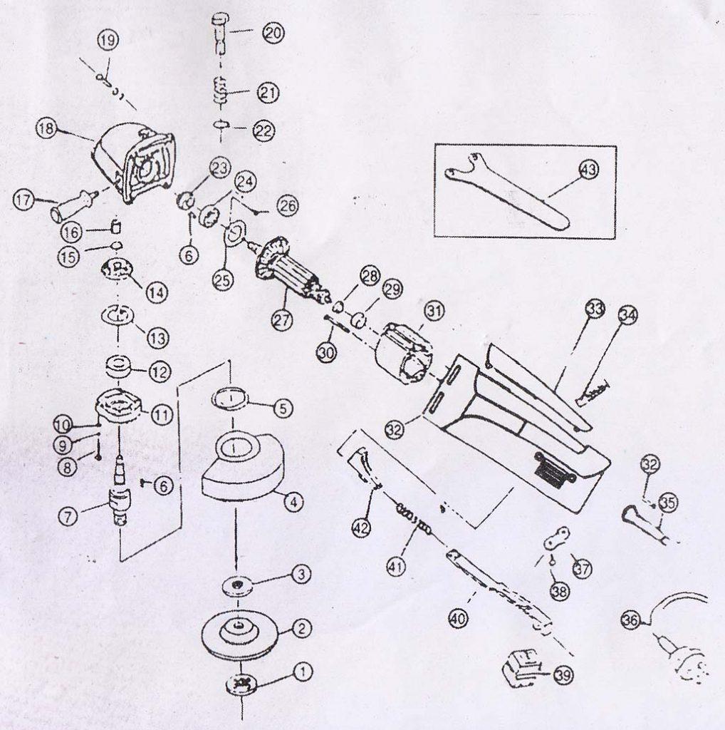 Angle grinder Figure 6