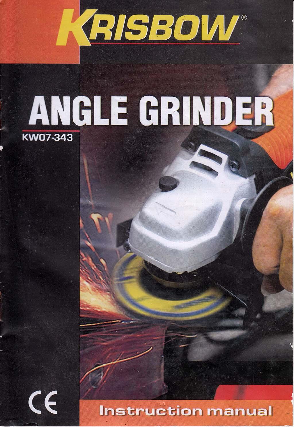 Krisbow Angle Grinder KW07-343