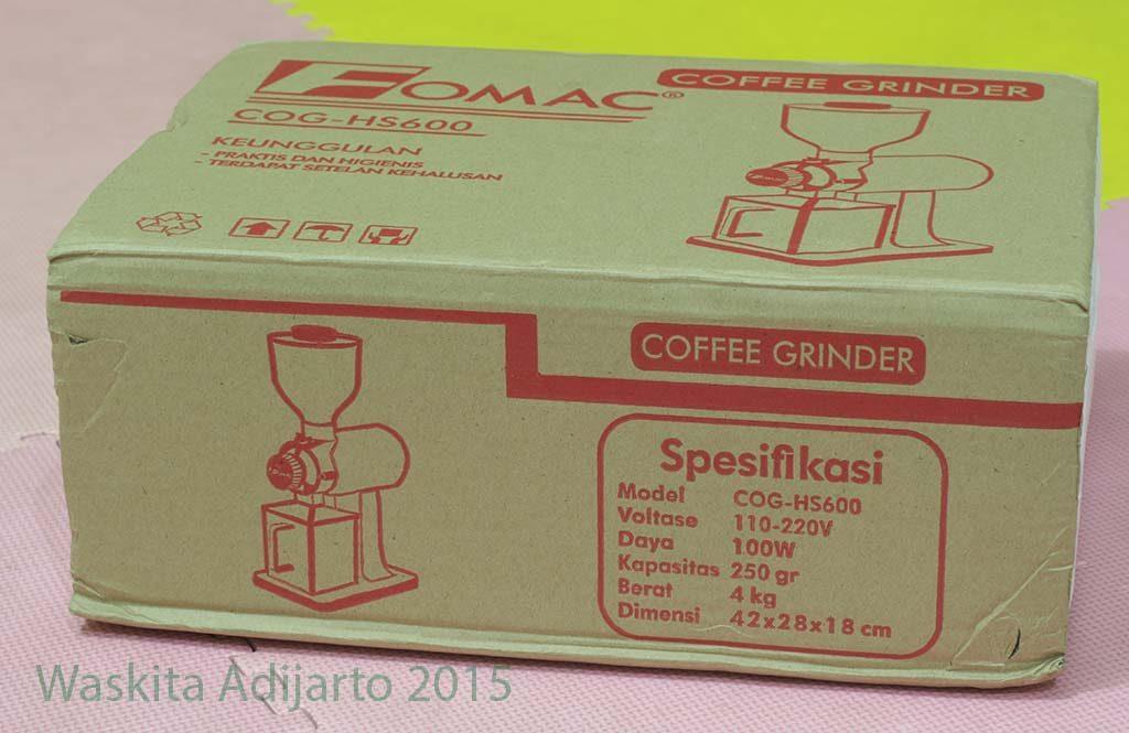 Kemasan mesin penggiling kopi COG-HS600
