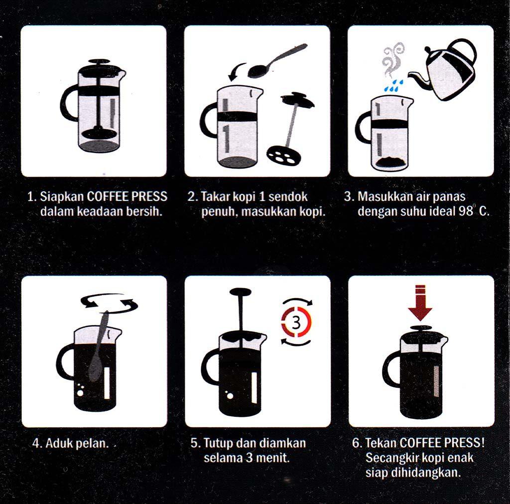 Manual penggunakaan Coffee Press