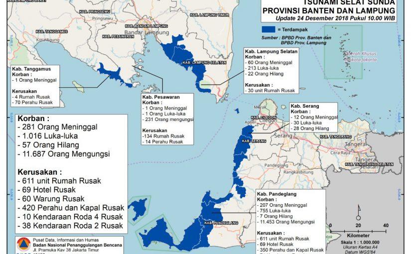 Korban dan kerusakan tsunami selat sunda 2018