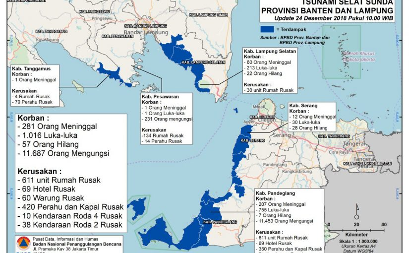 Kerusakan Dan Korban Akibat Tsunami Selat Sunda Desember 2018