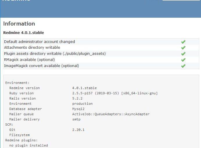 Instalasi Redmine 4.01 di Ubuntu 19.04