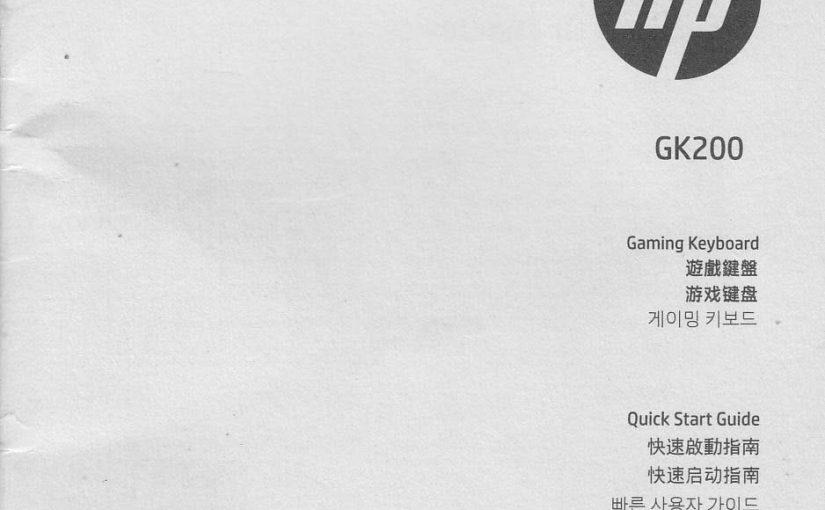 Manual Keyboard HP GK200 Gaming Keyboard